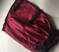 Dark Red Leggings - nylon 3 closings 35 cm