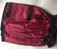 Dark Red leggings - nylon, 3closings 35cm