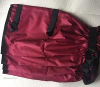 Dark Red leggings - nylon, 3closings 35cm