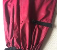 Dark Red leggings - nylon 35 cm