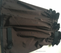 Brown Leggings - nylon 2 closings 35 cm